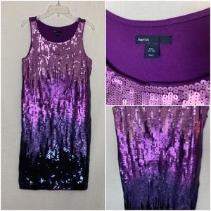 GAP KIDS 14-16 Purple Sequin Ombre Dress